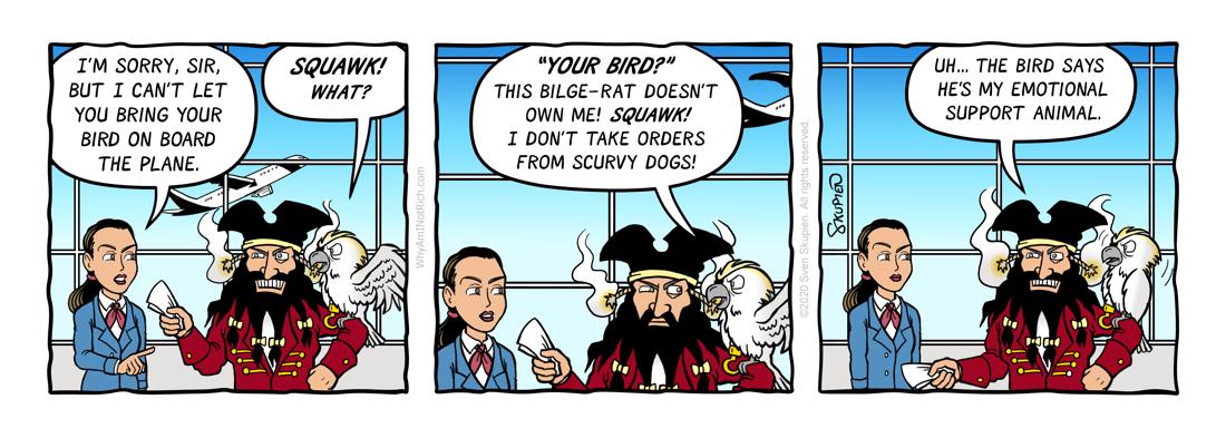 Blackbeard - Pirates - Doomed to Repeat - Comic by Sven Skupien
