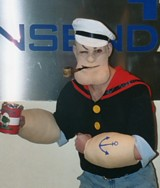 Popeye prosthetic make-up